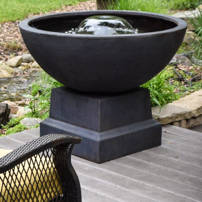Easy Pro Itasca Bowl Patio Fountain with Pump